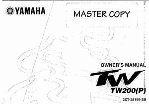 Yamaha Tw200 P 2002 Owner U2019s Manual