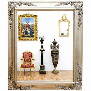 Miroir Baroque Argenté : miroir baroque cadre en bois argent 62x52 cm miroirs baroque classic stores ~ Teatrodelosmanantiales.com Idées de Décoration