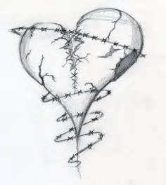 Broken Hearts Tattoos Drawings