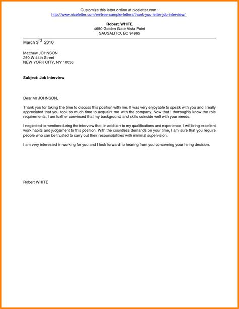 Resume Thank You Letter by Thank You Email For Interviews Resume Format