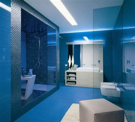 Fliesenfarbe Dunkelblau by 20 Beispiele F 252 R Blaue Bodenfliesen Im Badezimmer