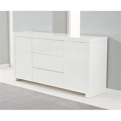 High Gloss Sideboards Uk by Harris Hereford White High Gloss Sideboard