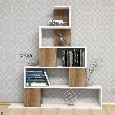 Libreria Moderna by Libreria Moderna A Forma Di Piramide Bianco Noce Pyram