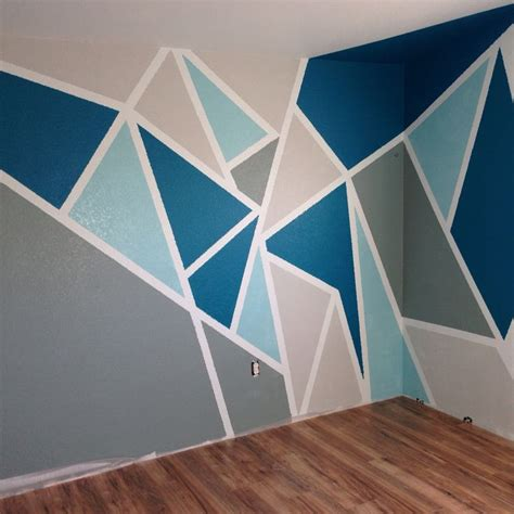 attempt   pinterest wall paint  blue