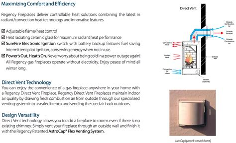 Regency Hz40e Linear Contemporary Direct Vent Gas