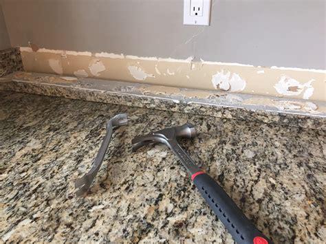 Granite Countertop Removal by Do It Yourself Brick Veneer Backsplash Remington Avenue