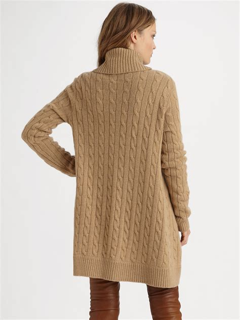 Shop 50 top ralph lauren camel sweater and earn cash back all in one place. Ralph Lauren Blue Label Cable Cutaway Sweater in Camel ...