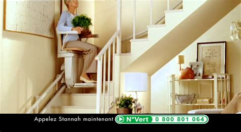 siege electrique pour escalier monte escaliers stannah pub tv femme 15 secondes