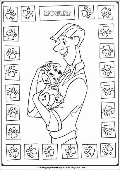Dalmatians 101 Coloring Pages Roger Printable Cartoon