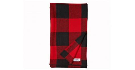 Buffalo Check Wool Blanket   Red and Black