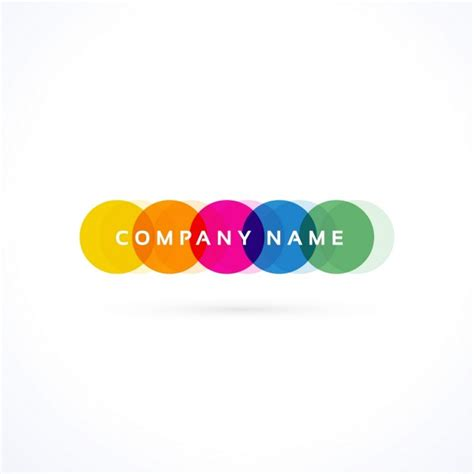color logo logo with colored circles vector free