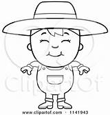 Farmer Mean Boy Clipart Cartoon Coloring Smiling Mad Being Cory Thoman Outlined Vector Pages Royalty Regarding Notes Clipartof 2021 Rf sketch template