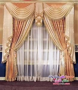 living room interior design: unique curtains designs 2014