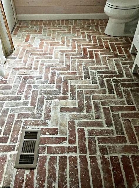 install  brick tile floor brick tiles bathroom