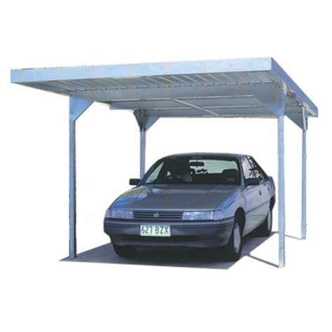 Absco Single Carport Skillion Roof Carports Zincalume 30yr
