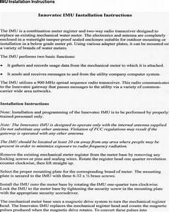 Itron 900 Remote Meter Interface Transceiver User Manual