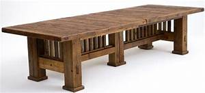 Reclaimed barnwood dining table mission style dining for Barnwood outdoor table