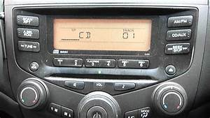 2005 Honda Accord Stereo Cd Player