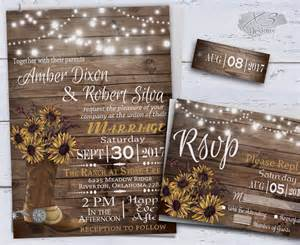 rustic wedding invitations sunflower wedding invitations printable rustic wedding