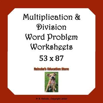 multiplication  division word problems worksheets tpt