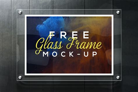 Use this bottle psd to showcase your branding designs. Realistic Glass Frame Mockup Free PSD - Download PSD