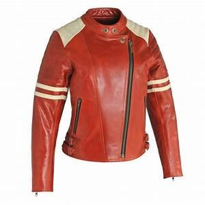 Blouson De Moto : blouson cuir vintage guns rouge femme veste moto ~ Medecine-chirurgie-esthetiques.com Avis de Voitures