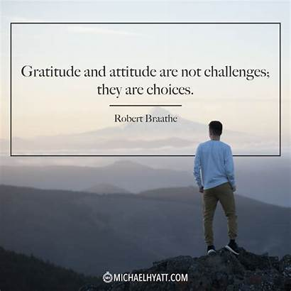 Quotes Gratitude Attitude Challenges Positive Personal Daily
