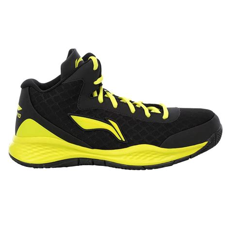 lining abpj  basketball shoes black  yellow buy lining abpj  basketball shoes black  yellow   lowest prices  india