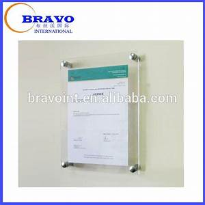 standoff wall mounted sign holder acrylic a4 size poster With plastic wall mounted document holder