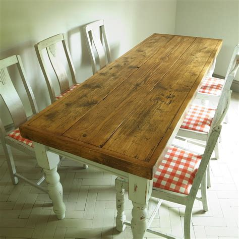 vintage french country pine farmhouse dining table
