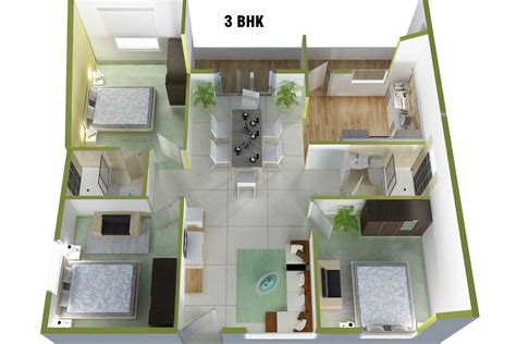 3 Bhk Home Design : 93+ 3bhk Home Design Plans Indian Style 3d