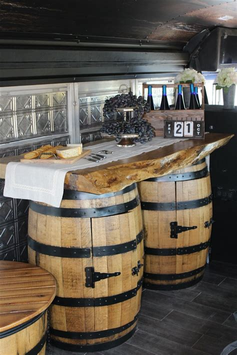 whiskey barrel bar ideas  pinterest barrel