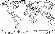 blank map of continents and oceans printable That are ...