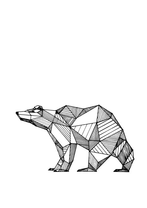 geometric drawings animals black  white google zoeken