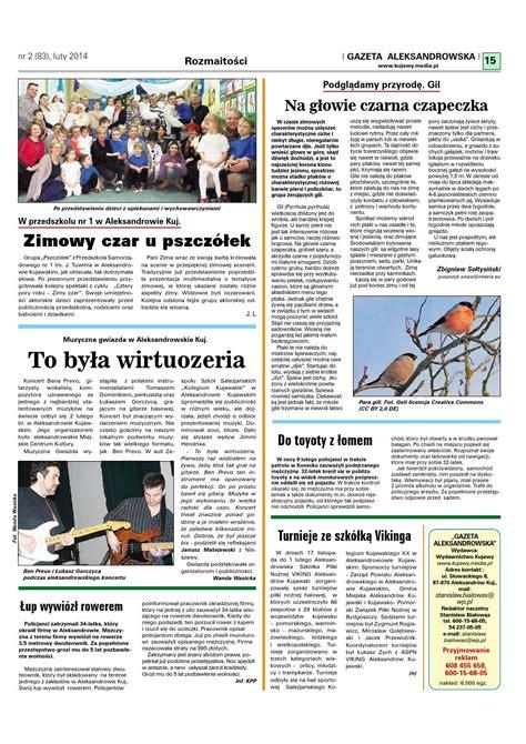 Gazeta Aleksandrowska nr 83 (2014) by Wydawnictwo Kujawy ...