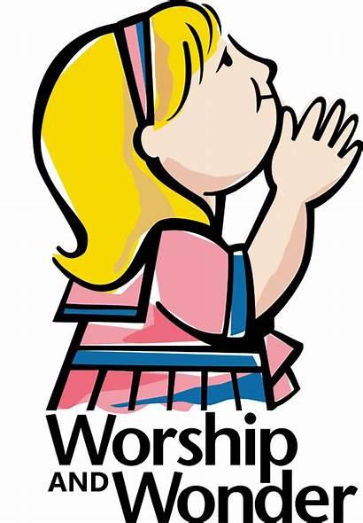 Worship God Clipart Clip Children Child Worshipping