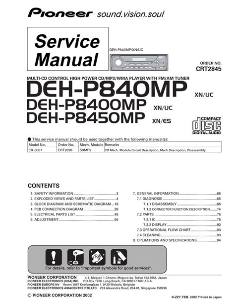 Pioneer Deh Wiring Diagram Manual