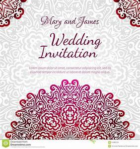 lacy vector wedding card template stock vector image With wedding invitation flower ornaments