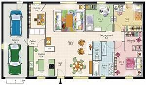 modele de plan de maison plain pied avec 3 chambres et With maison en 3d gratuit 7 exemple modele maison axial