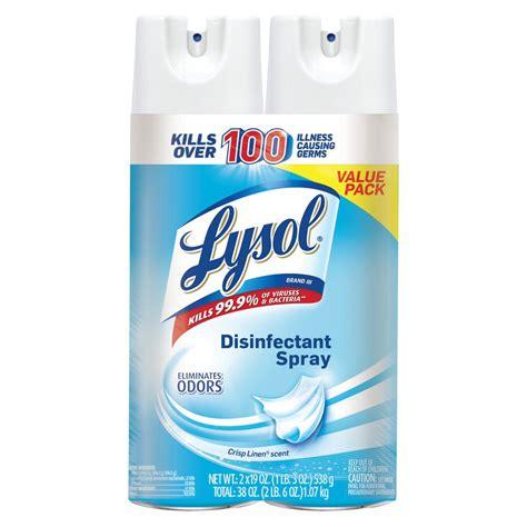 Lysol 19 oz. Crisp Linen Disinfectant Spray (2-Pack)-19200