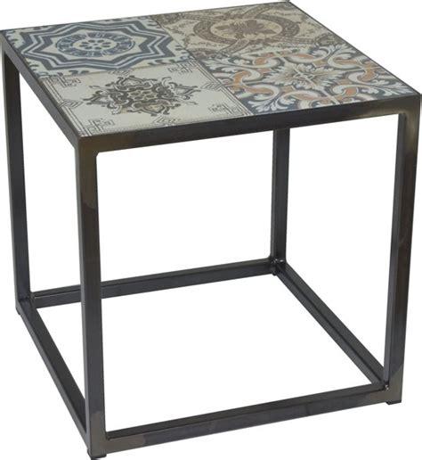 salontafel 40 x 40 bol spinder design ibiza bijzettafel blacksmith