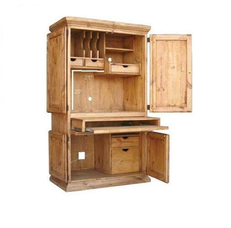 rustic computer armoire western cabin lodge storage real