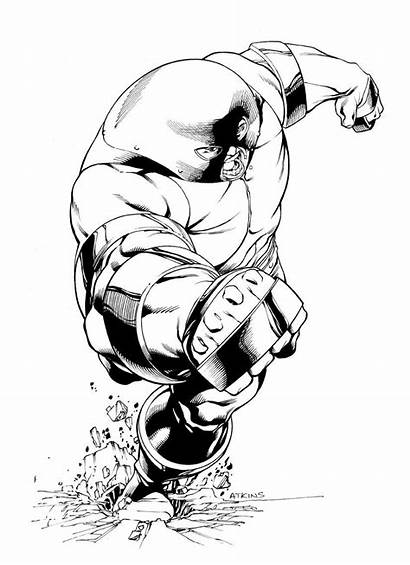 Juggernaut Marvel Coloring Apocalypse Ink Colossal Fan
