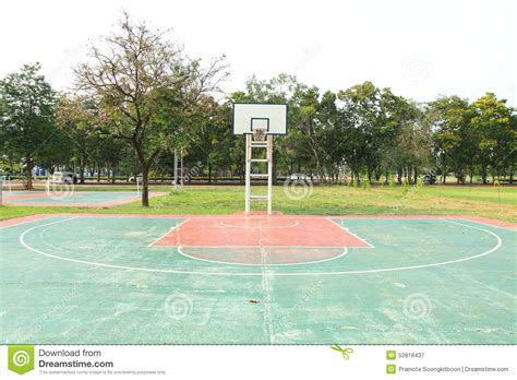 terrain de basket ext 233 rieur photo stock image 52818437