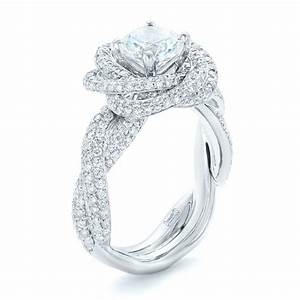 modern knot edgeless pave engagement ring 102374 With the knot wedding ring