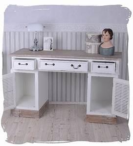 Schreibtisch Shabby Chic Look : schreibtisch landhausstil computertisch weiss schreibm bel ~ Lizthompson.info Haus und Dekorationen