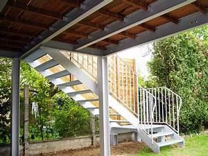 Fabrication terrasse sur mesure bois/metal, ferronnerie Entreprise Marc Bourrellier Yvelines