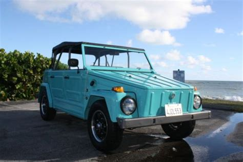 Find Used 1973 Vw Volkswagen Thing Beach Cruiser Teal