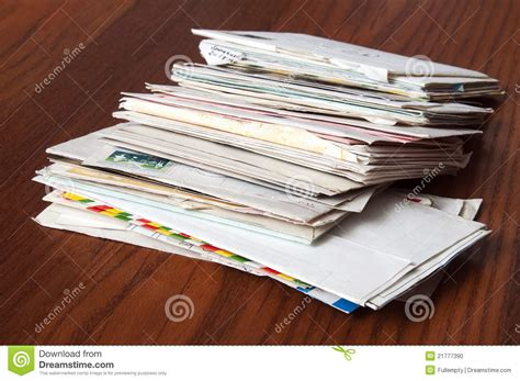 Letters And Enveloppe Stock Photo