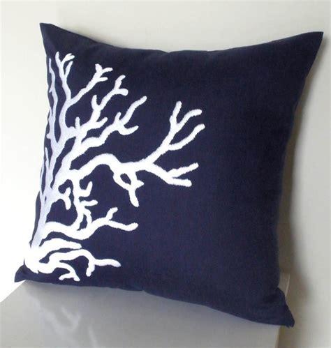 coastal throw pillows nautical coral throw pillow cover 18 x 18
